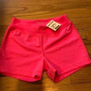 NWT Bebe sport hot pink shorts size XS